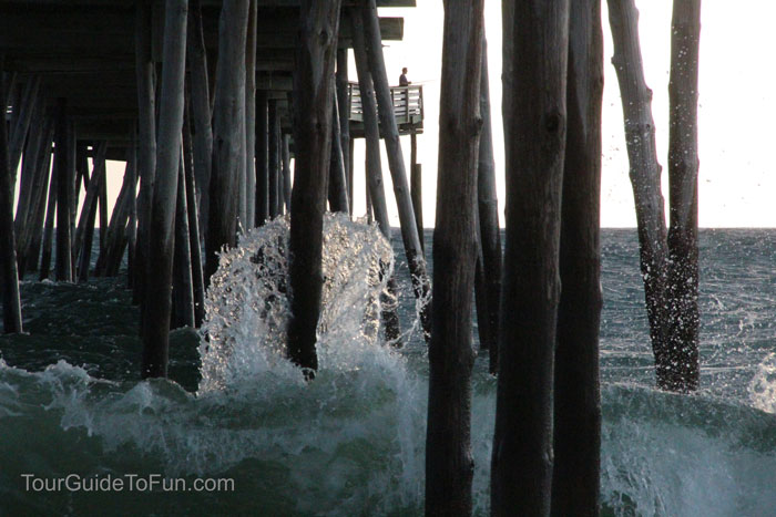 outer banks wooden fishing pier