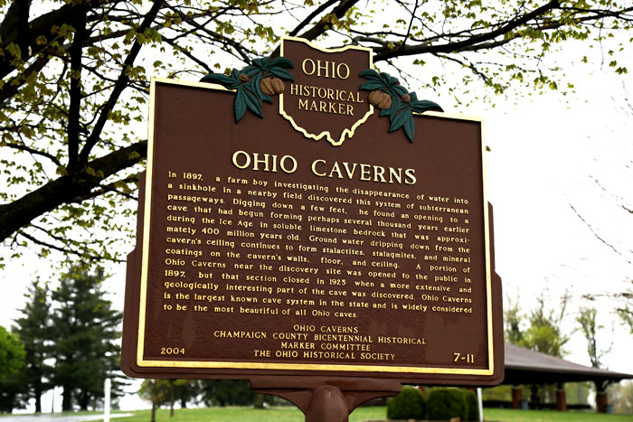 Ohio Caverns Historic Marker by Ohio Historical Society