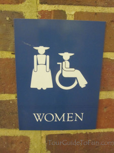 colonial williamsburg bathroom signs