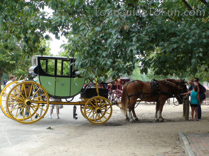 Colonial Williamsburg Virginia Horse and Carriage