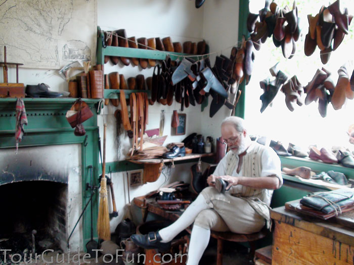 shoe repair at colonial williamsburg