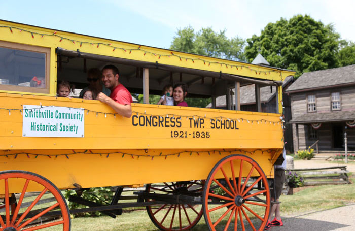 horse-drawn school bus from Smithville OH