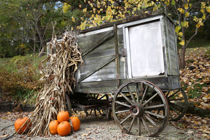 old pioneer wagon