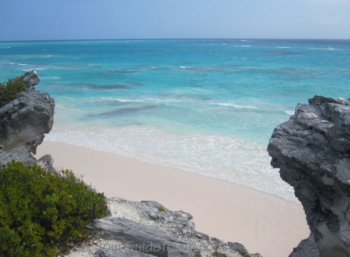 rocky caribbean island beach