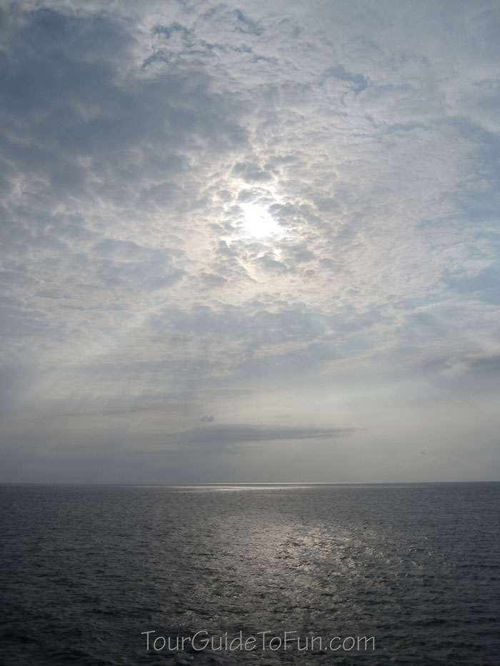 moody sea at dusk