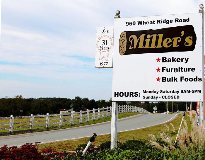 amish millers billboard