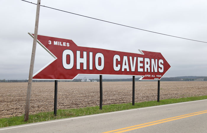 nostalgic ohio caverns roadside sign billboard