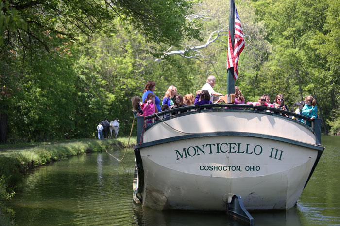 Monticello III Canal Boat and Tow Path