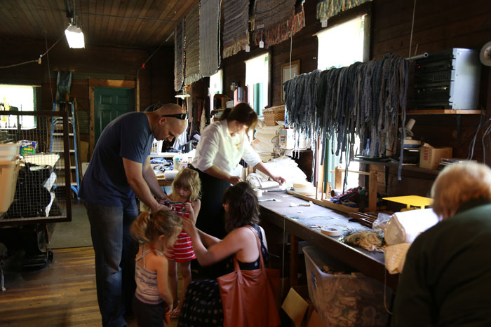Kids at Mishler Weaving Mill