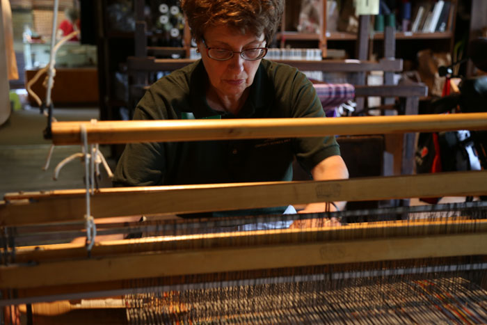 Nita Downey Weaving at Mishler Mill